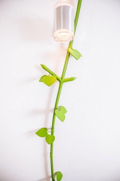 """Kabelranke """"Plants"""" Linde, grün – 2 Meter Design-Kabelkanal"""