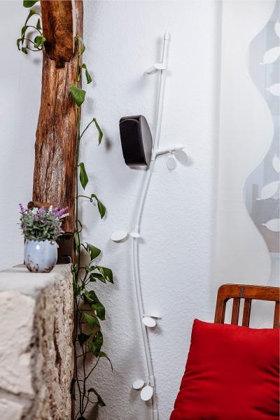 """Kabelranke """"Plants"""" Erle, weiß – 2 Meter Design-Kabelkanal"""
