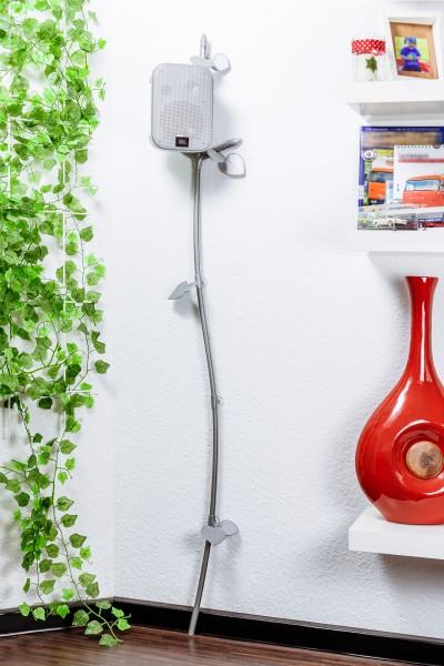 """Kabelranke """"Plants"""" Linde, silber – 2 Meter Design-Kabelkanal"""