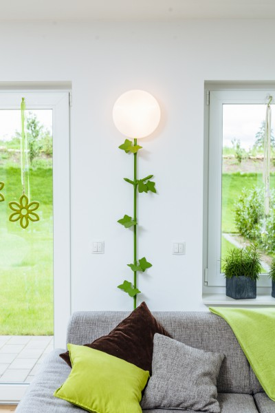 "Kabelranke ""Plants"" Ahorn, grün – 2 Meter Design-Dekoartikel"