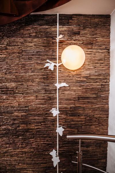 """Kabelranke """"Plants"""" Ahorn, weiß – 2 Meter Design-Kabelkanal"""